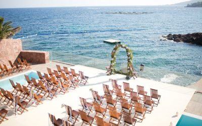 Seaside wedding on the Riviera