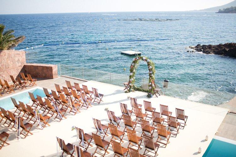 Seaside wedding on the Riviera