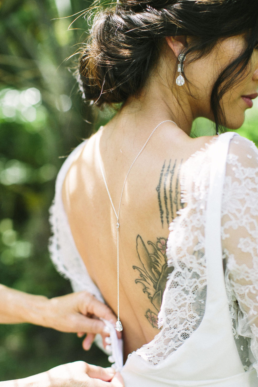 Tropical bridal inspiration